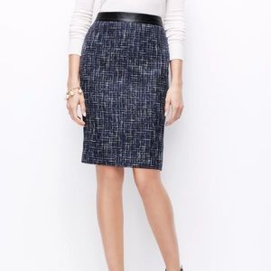 BRAND NEW - Ann Taylor Tweed Pencil Skirt
